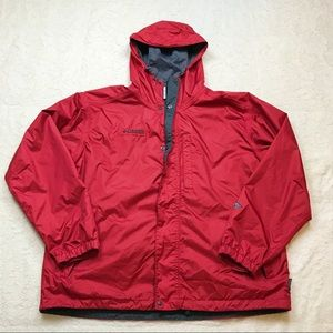 Columbia Red Zip Up Lightweight Windbreaker Jacket